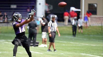Ravens WR Tim White showing off his versatility as return specialist
