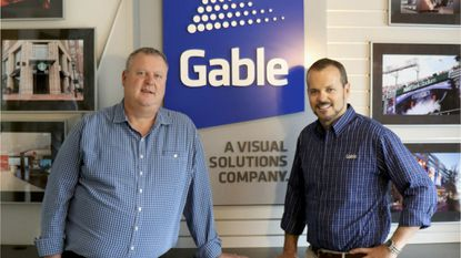 Paul Gable, right, pictured with his brother and partner Matt Gable, left, is founder and president of Gable Co., a national sign company based in Anne Arundel County.