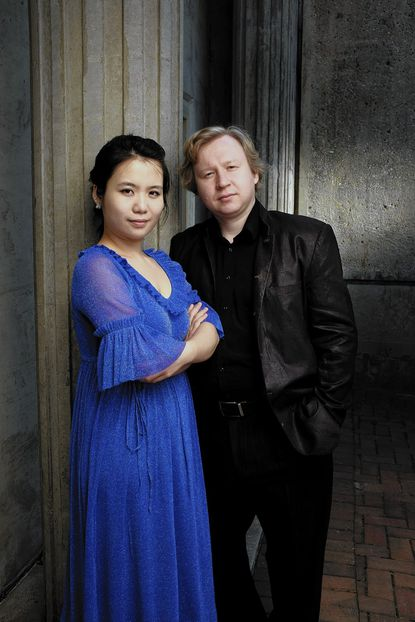 Yury Shadrin, right, and Tian Lu bring their piano partnership to the Sundays at Three concert Feb. 9 at Christ Episcopal Church in Columbia.