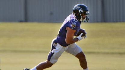 Ravens wide receiver Michael Campanaro practices during training camp at the Under Armour Performance Center.