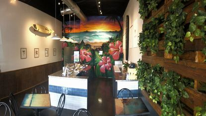 The interior of PokeOno, a fast-casual restaurant in South Baltimore.