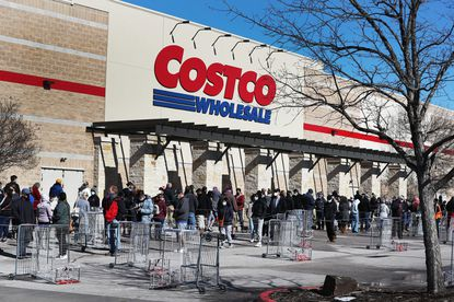 People wait to shop at the Costco Wholesale store as they look to purchase essentials on February 20, 2021 in Austin, Texas. (File/Getty Images)