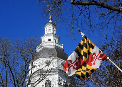 Annapolis, MD-- January 5, 2016--This is a view of the State House dome. Barbara Haddock Taylor/Baltimore Sun