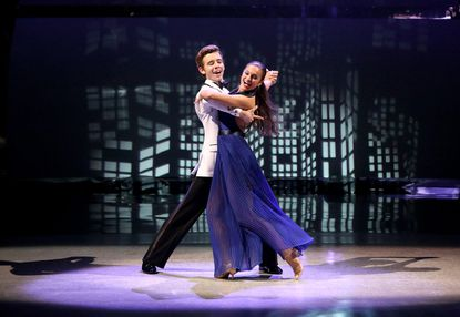 """Top 6 contestants Jacque LeWarne (R) and Zack Everhart Jr. perform a foxtrot routine on """"So You Think You Can Dance."""""""