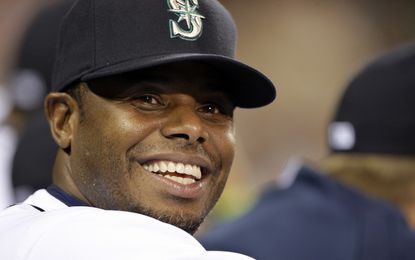 In this Sept. 15, 2009, file photo, Seattle Mariners' Ken Griffey Jr. smiles in the dugout during a baseball game against the Chicago White Sox in Seattle.
