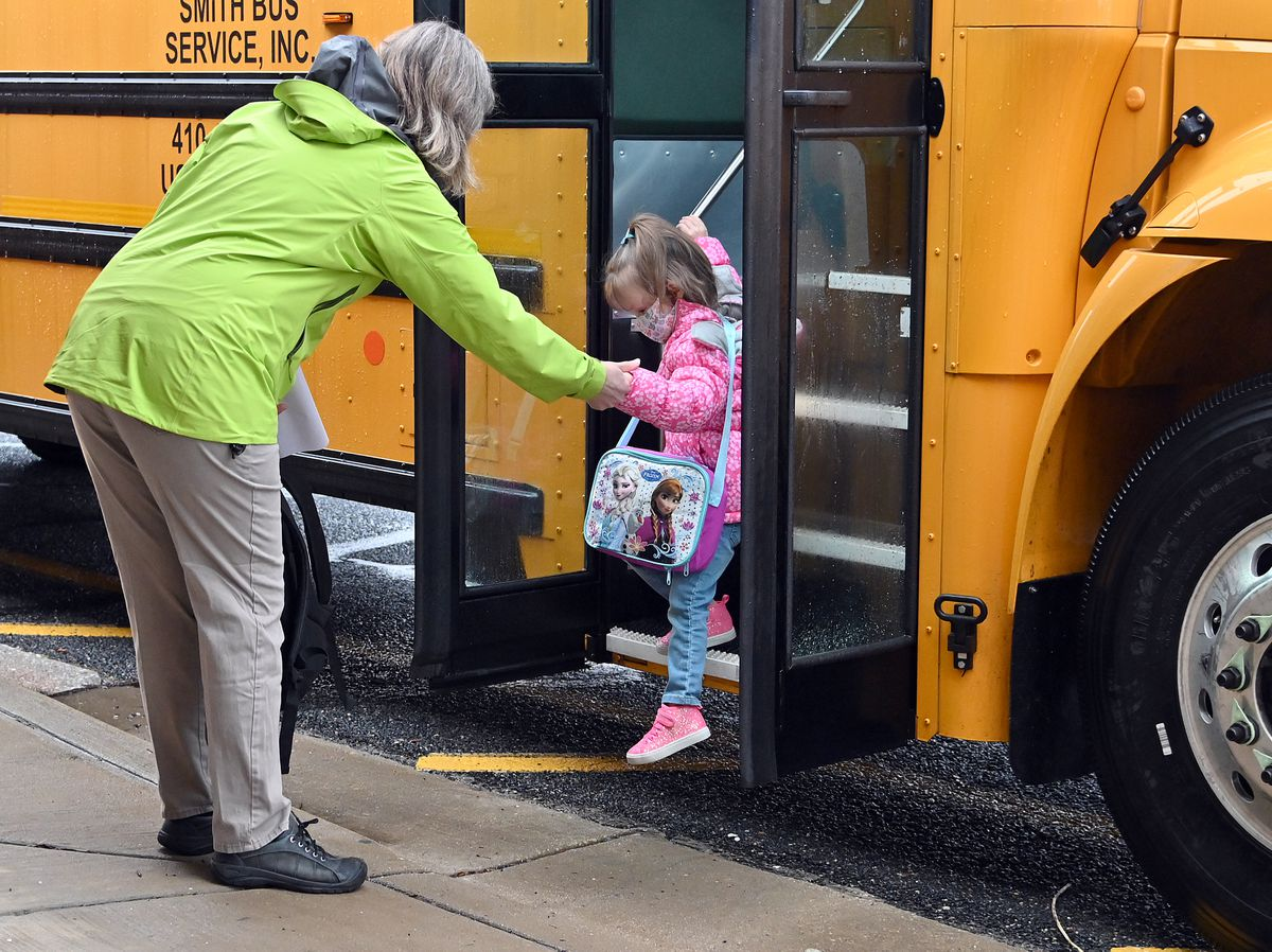 Empty buses and open windows: Anne Arundel schools embrace inefficiencies as students return to buildings for first time in a year