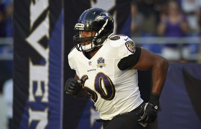 """Left tackle Eugene Monroe suffered through myriad injuries this season, including a conussion and recurring shoulder injury, and was <a href=""""http://www.baltimoresun.com/sports/ravens/ravens-insider/bal-eugene-monroe-goes-to-ir-20151212-story.html"""" target=""""_blank"""">placed on injured reserve Dec. 12</a>."""