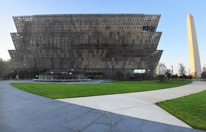 The National Museum of African American History and Culture located on the National Mall, opens September 24. It has 34,000 artifacts housed in 400,000-square-foot structure. Sixty percent of the building is below ground.