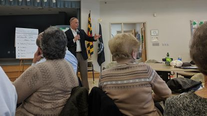 Commissioner Ed Rothstein, R-District 5, hosted two Town Hall meetings at the South Carroll Senior Center in Eldersburg on March 5, 2019.