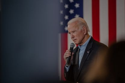 Former Vice President Joe Biden, the presumptive Democratic presidential nominee, at a campaign event in Burlington, Iowa, Jan. 31, 2020. Biden on Wednesday blasted the Republican response to President Donald Trump's firings of a string of inspectors general over the last several weeks, suggesting that in another era there would have been louder bipartisan criticism for ousting watchdogs.