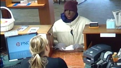 Perryville police say this man attempted to rob a bank while dressed in blackface.