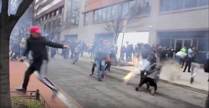 Footage from Inauguration Day protests