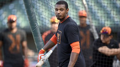 Orioles center fielder Adam Jones knows when to get serious on the field.