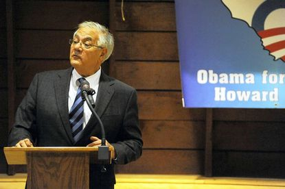 U.S. Rep. Barney Frank spoke to a Howard County for Obama event Wednesday in Columbia.