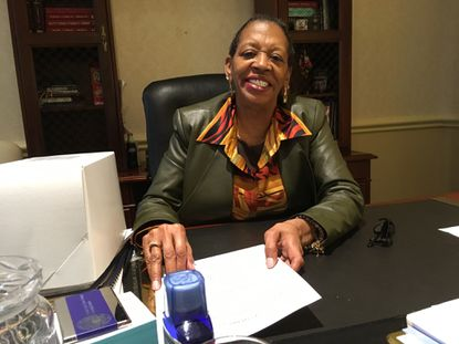 State Sen. Joan Carter Conway, a Baltimore Democrat, in her Annapolis office.