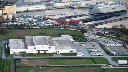 Baltimore, MD -- The Baltimore Sun Media Group printing plant Sun Park is seen at Port Covington.