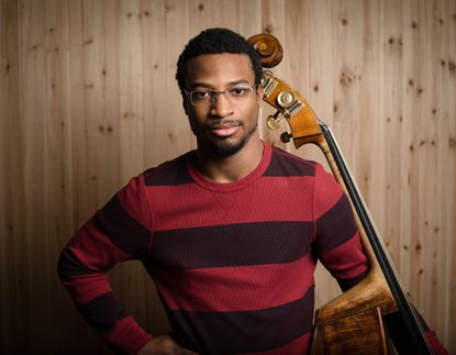 Xavier Foley will likely provide many audience members with their first solo double bass recital during the new Shriver Hall Concert Series.
