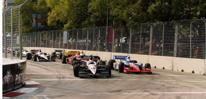 Shown is the start of the Baltimore Grand Prix, won by Will Power.