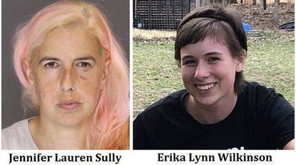 Jennifer Lauren Sully, left, and Erika Lynn Wilkinson, right. Sully was arrested and charged for theft, according to Baltimore County Police, Wilkinson is wanted on an active warrant for the same charges, police say.