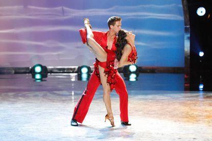 "Top 16 contestants Matthew Kazmierczak and Audrey Case perform a Salsa routine to ""Cinco Salsa"" choreographed by Liz Lira."