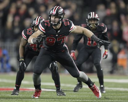 Thetwo-time consensus All-American didn't match his 13.5 sacks from 2014 this season, but with five in his junior year, finished with 26 career sacks and 51 tackles for loss in this three years with the Buckeyes.