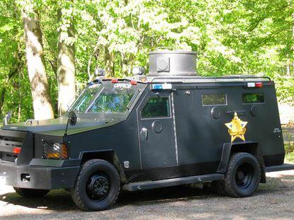 The Harford County Sheriff's Office current armored vehicle, built in 2004, is shown. The office recently received approval to purchase a new Lenco BearCat armored vehicle for more than $404,000.