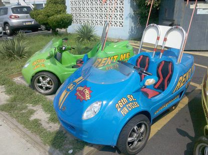 Scoot coupes for rent in Ocean City.