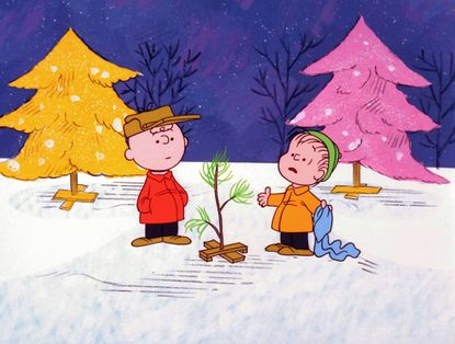 "Charlie Brown and Linus appear in a scene from ""A Charlie Brown Christmas."" Peanuts creator Charles Schulz coined the term ""security blanket"" in reference to Linus' blue flannel cloth."