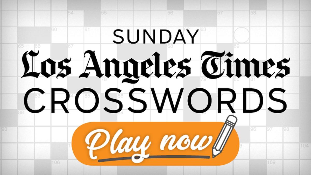 La Times Sunday Crossword Baltimore Sun