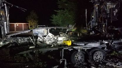 Fire destroys camper Tuesday night in New Windsor, state fire marshal says