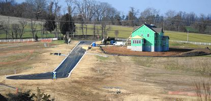 The first of several houses is under construction in Colvard Choice off Chestnut Hill Road in Forest Hill. Overall, home building activity in Harford County fell in 2014 compared to the two previous years.