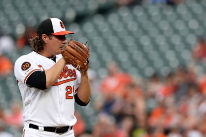 Orioles starter Asher Wojciechowski ranks first in chase rate in the major leagues.