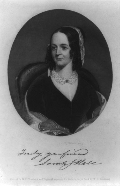 Sarah Josepha Hale was persistentin her quest to have Thanksgiving recognized by all in the United States.