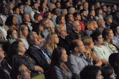 Audience members take in a short picture at the 2013 Maryland Film Festival.