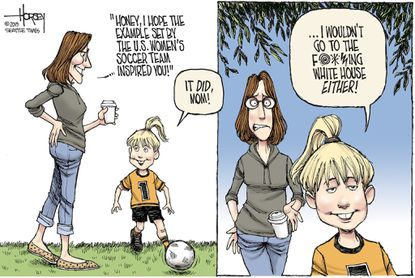 David Horsey: the takeaway from the Women's World Cup win