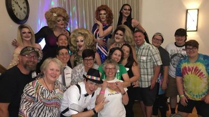 The Drag Show Committee of PFLAG Westminster-Carroll County mugs for the camera at the 2018 Shantay You Stay show in Westminster. The event will be held again on July 6.