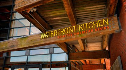 The entrance to Waterfront Kitchen in Fells Point, photographed in 2015. The restaurant will rebrand as Ampersea next month.