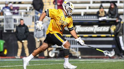 Towson face-off specialist Alex Woodall played in the NCAA first-round game against Maryland four weeks after he fractured his jaw.