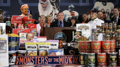 It started with a block of cheese. Now, America's politicians can't stop making ridiculous Super Bowl bets.