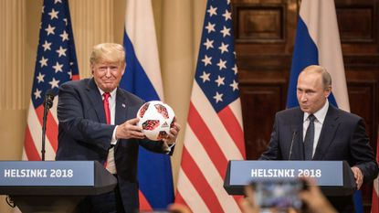 At a news conference this year, Russian President Vladimir Putin baldly lied about his efforts to interfere in the U.S. election while President Trump stood meekly by. But hey, free soccer ball.