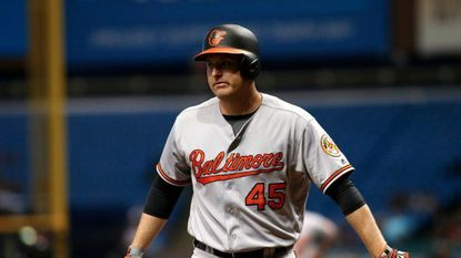 Mark Trumbo scratched from Orioles lineup Sunday after tweaking back