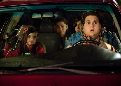 "Jonah Hill is on child-care duty in Friday's ""The Sitter."""