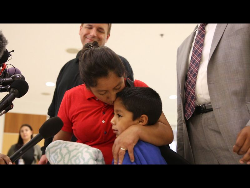 Guatemalan woman reunited with her son at Baltimore airport
