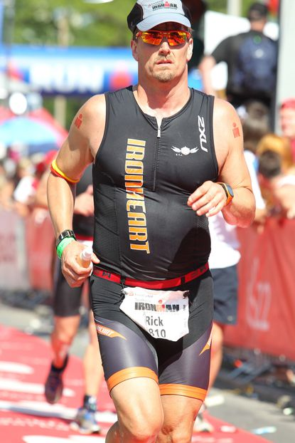 Rick Armiger, 43, of Sparks competes at the Ironman European Championship in Germany.