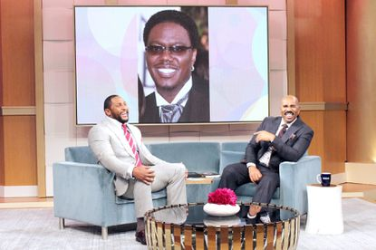 Ray Lewis does an impersonation of the late King of Comedy and actor, Bernie Mac, on Tuesday's episode of the Steve Harvey Show.