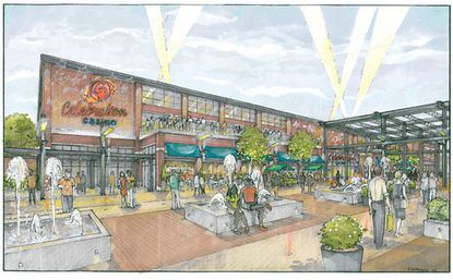 An artist's rendering of the the Baltimore City Entertainment Group's proposed Celebration Casino, which the developers showed Wednesday.