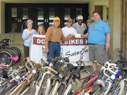 World class bike drive held by Leo Club [Glenwood/Glenelg/Dayton]