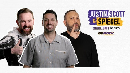 """Justin Schlegel, Scott Reardon and Josh Spiegel, the 98 Rock morning team, will be featured in a Saturday night TV show on WBAL. Dan Joerres, the station's general manager, describes the show as """"limited run."""""""