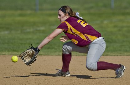 Hereford High's Erin Collins has been strong offensively and defensively for the 18-under Maryland Black Ice Softball Club this spring. She leads the team in batting with a .500 average.