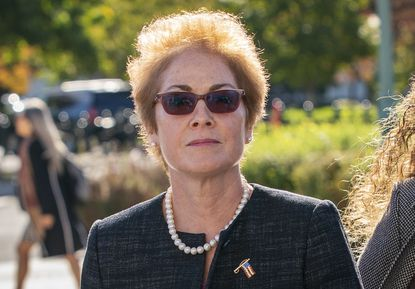 Former U.S. Ambassador to Ukraine Marie Yovanovitch arrives on Capitol Hill on Oct. 11, 2019, to testify before congressional lawmakers as part of the House impeachment inquiry into President Donald Trump.
